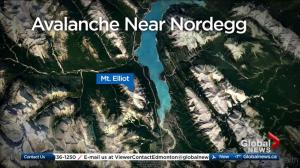Man airlifted from central Alberta mountain after avalanche