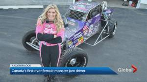 Cynthia Gauthier is Canada's first female Monster Jam driver