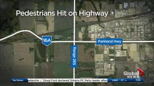 2 pedestrians killed on highway near Acheson