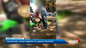 Torontonians show up to support Indigenous drummers who were confronted at Toronto park