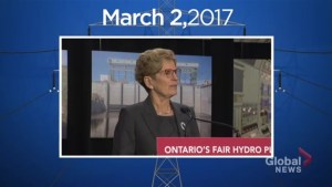 What led to the new Ontario Liberal government plan for hydro rate reductions?