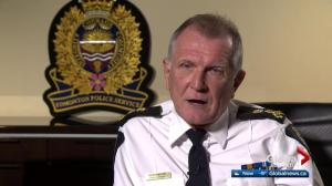 Edmonton Police chief says force not ready for legalized marijuana