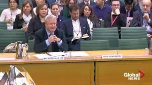 Facebook's Mark Zuckerberg fails to appear at London hearing