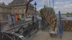 Paris removes 'love locks' on Pont des Arts