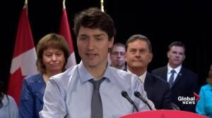Trudeau visits family of Burlington, Ont. man imprisoned in Indonesia (01:20)