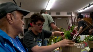High school students enjoy 'really cool' gardening project at Calgary care home