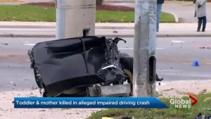 Mother and two-year-old son killed by alleged drunk driver in overnight crash in Mississauga