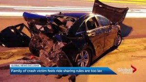 Family of Toronto crash victim feels ride sharing rules are too lax