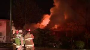 Massive fire in Burnaby sends two people to hospital