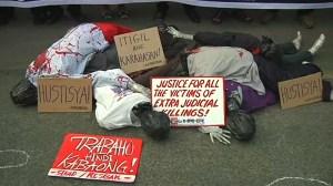 Philippine activists protest President Rodrigo Duterte's war on drugs