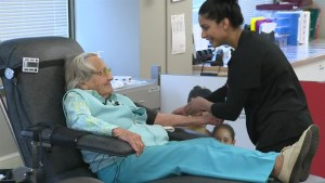 B.C.'s oldest blood donor honoured