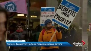 Protests target Tim Hortons; franchisees slam Wynne
