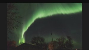 North lights dance across Saskatchewan sky