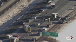 Serious Anthony Henday motorcycle crash