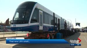 Bombardier shows off new LRV train in Edmonton