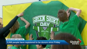 Green Shirt Day inspires huge surge in organ donor registrations