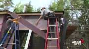 Play video: Harrison Trimble High School students take on housing project