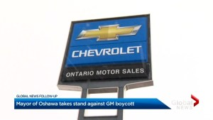 Oshawa mayor doesn't support General Motors ban