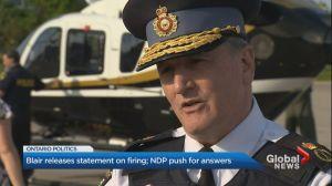 Former OPP deputy commissioner Brad Blair speaks out on firing