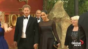 Prince Harry and Meghan attend London premiere of 'The Lion King'