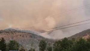 Eagle Bluff wildfire burning north of Oliver estimated at 250 hectares