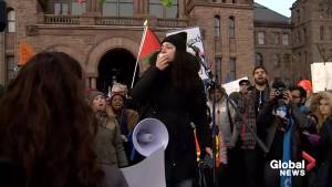Students protest OSAP changes at Queen's Park