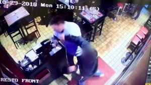 Surveillance video shows assault inside Montreal Dunn's restaurant
