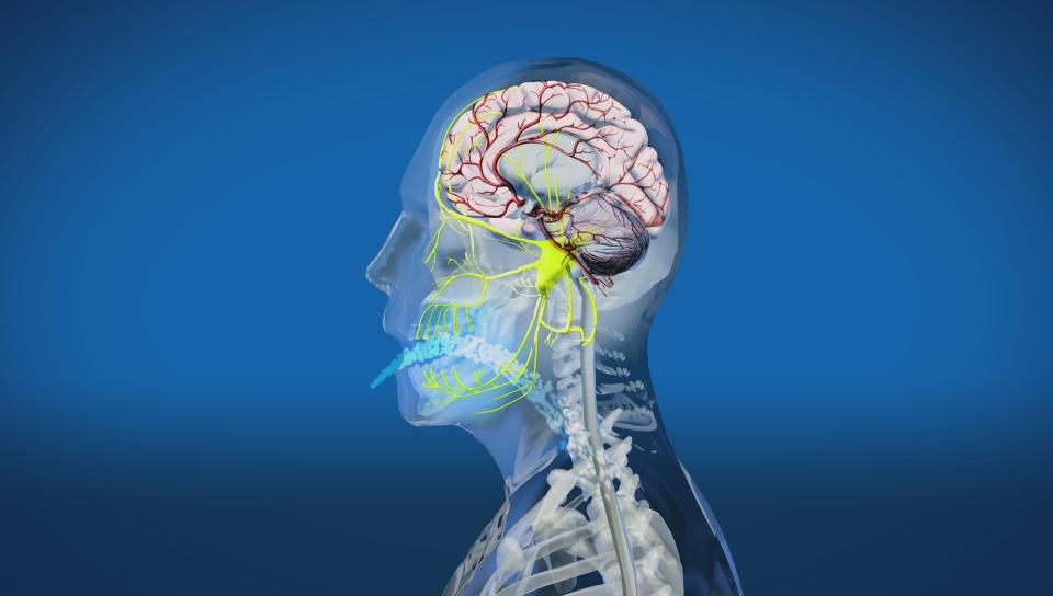 Brain freeze stock vector. Illustration of chill, brain