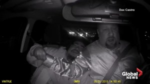 Intoxicated passenger tries to grab steering wheel from Uber driver on highway