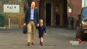Prince George starts his first day of school