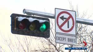 New traffic sign road restriction has enraged 124 Street business owners