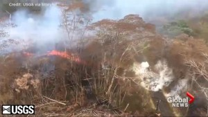 USGS surveys new fissure on Leilani Street on Hawaii's Big Island