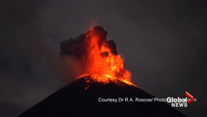 Ecuador's 'Troublemaker' volcano sends lava flying in fiery explosion