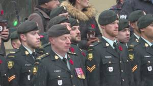 Calgary military parade marks 100 years since end of WWI