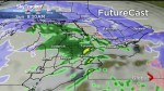 Sunny for Saturday, mixed precipitation and gusty winds for Sunday