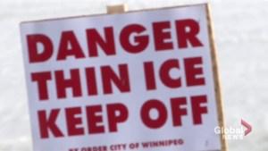 'Danger: Thin Ice': Winnipeg fire paramedics urge caution around city waterways