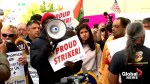 Protesting Uber and Lyft drivers take to the streets in NYC