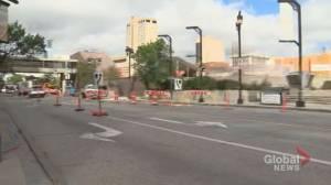 Downtown Winnipeg street closed to traffic until 2020 (00:31)