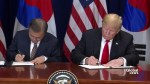 Trump, Moon sign 'historic' U.S.-South Korea trade deal