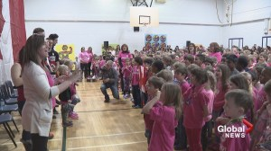 Calgary school kids spend an afternoon with their Olympic heroes