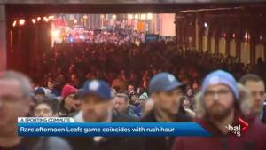 Traffic overload after Leafs' crowd clashes with rush hour