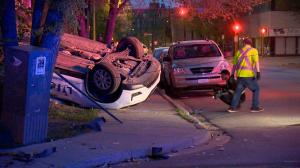 LifeLabs vehicle rolls over into Regina yard