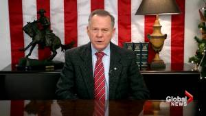 Democrats call for halt on tax bill, while Roy Moore still refuses to concede
