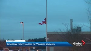Emotional return to class for Vaughan students