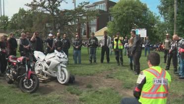 Edmonton motorcycle community honours fatal crash victim