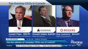 Are Canada's top earning CEO's overpaid?