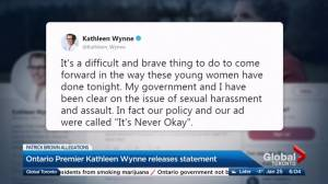 Wynne addresses Brown allegations: sexual harassment 'never OK'