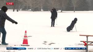 Edmonton reporter Kent Morrison endures snow, wind and cold to get his golf fix