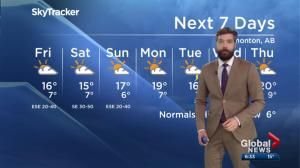 Global Edmonton weather forecast: May 16