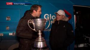 Grey Cup visits 2018 Global News Morning of Giving